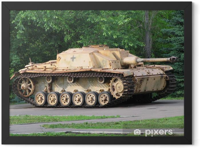 """Plakat w ramie Niemiecki czołg """"Tygrys"""" z II wojny światowej - Tematy"""