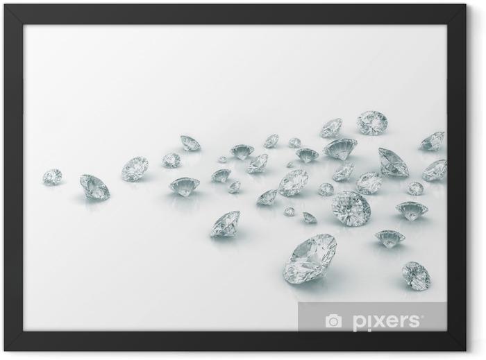 Diamonds Framed Poster - Heavy Industry