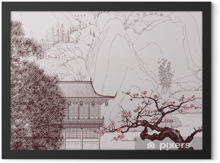 Chinese landscape Framed Poster - Styles