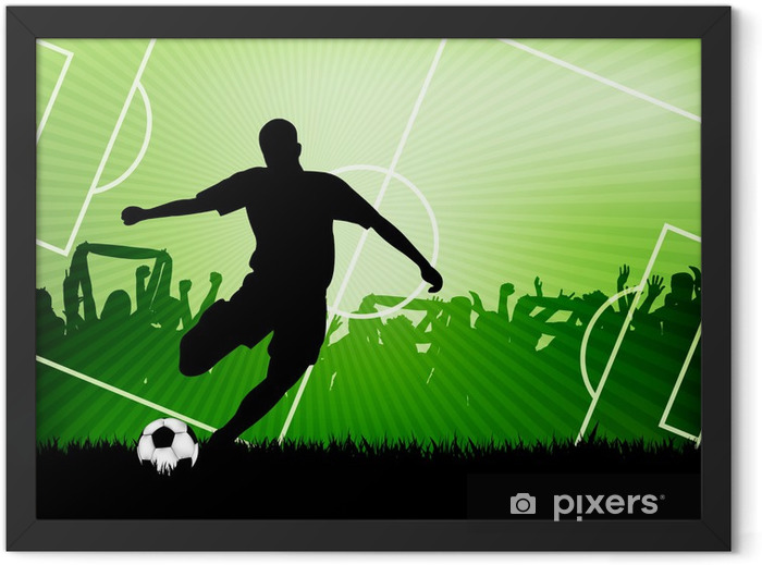 soccer background Framed Poster -