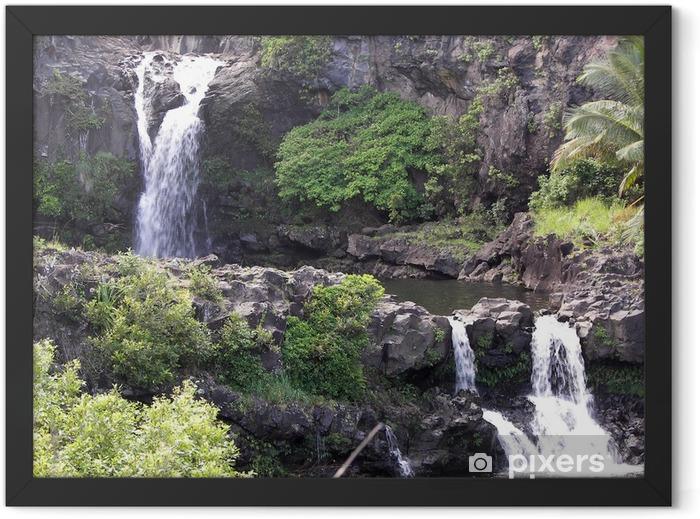 seven sacred pools hana maui, hi Framed Poster - Nature and Wilderness
