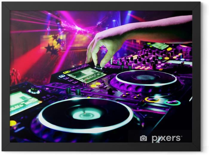 Plakat w ramie Mieszanki utwór dj -