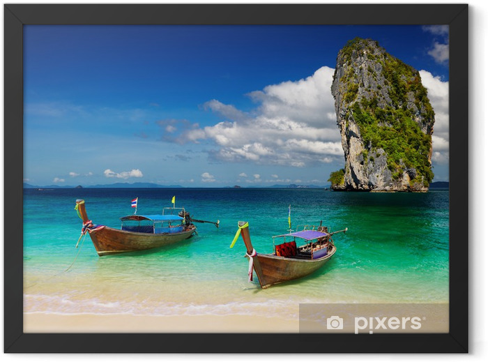 Tropical beach, Andaman Sea, Thailand Framed Poster - Themes