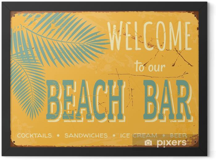 Vintage Tin Sign Framed Poster - Styles