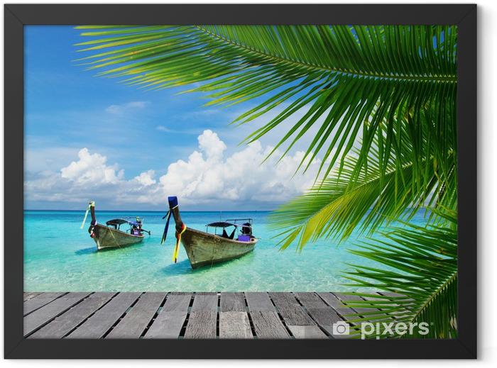 Plakat w ramie Pomost z widokiem na tropikalne morze - Bestsellery
