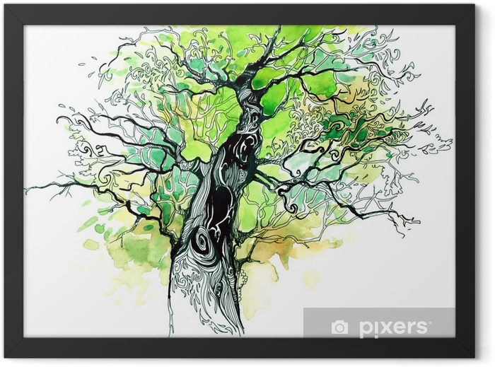 tree trunk Framed Poster - iStaging