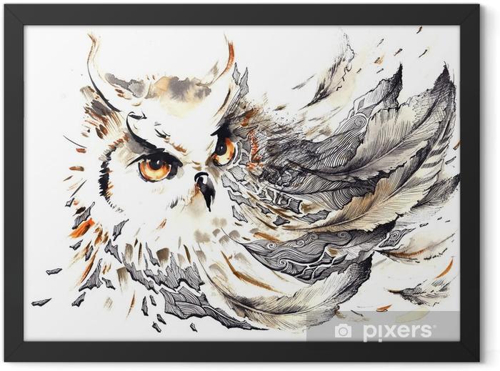 Plakat w ramie Ptak - Nauka i natura