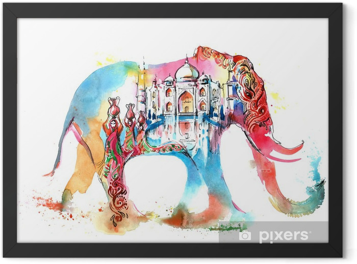 India Framed Poster - Wall decals
