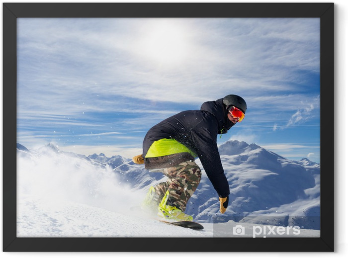snowboarder Framed Poster - Winter Sports