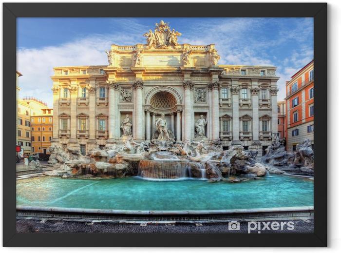 Plakat w ramie Fontanna di Trevi, Rzym, Włochy - Tematy