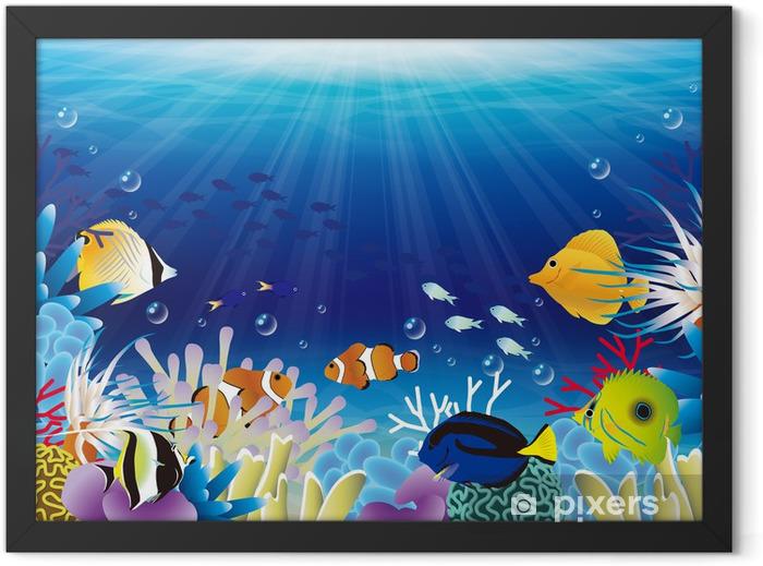 海中 Framed Poster - Coral reef