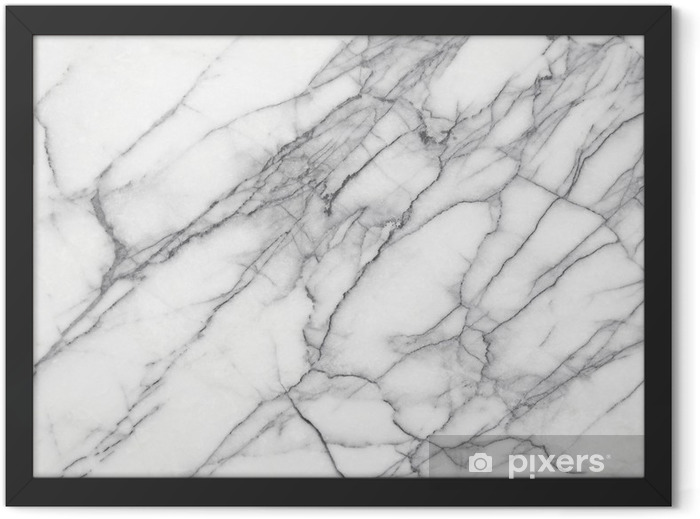White Marble (High.Res.) Framed Poster - iStaging