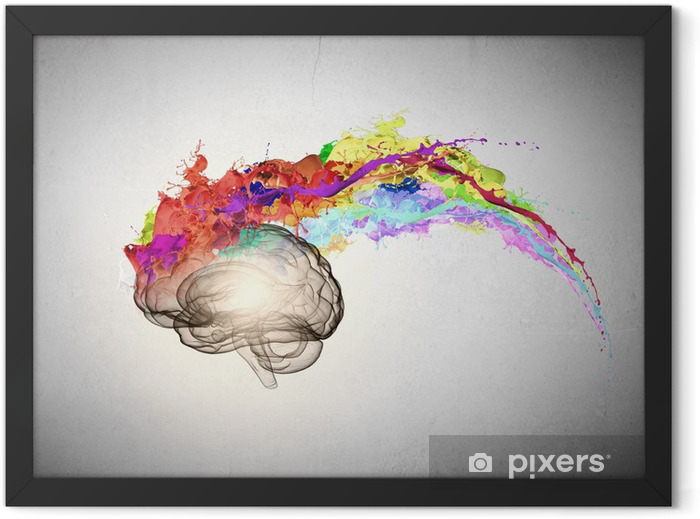 Creative thinking Framed Poster - Body Parts