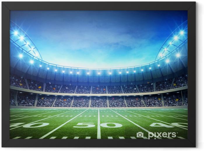 light of american stadium Framed Poster - American football