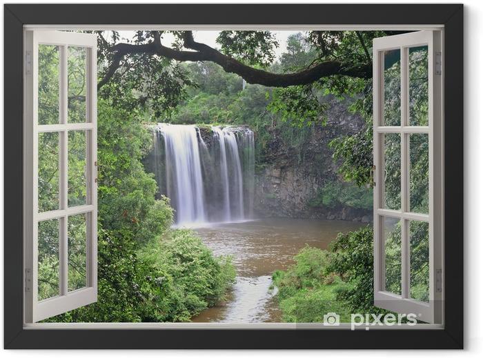 Plakat w ramie Dangar Falls obejrzeć w otwartym oknie - iStaging