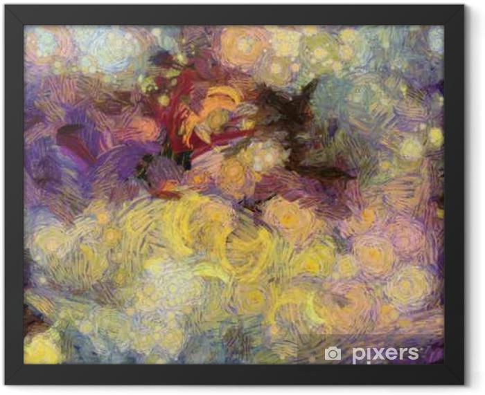 Plakat w ramie Deep Space Painting - Zasoby graficzne