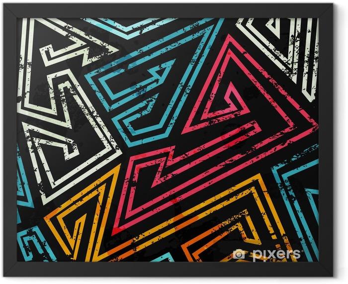 Plakat w ramie Graffiti szwu z mocą grunge - Zasoby graficzne
