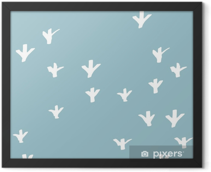 seamless patterns hand-drawn. Pattern for use on wrapping paper, greeting cards and gift products Framed Poster - Graphic Resources