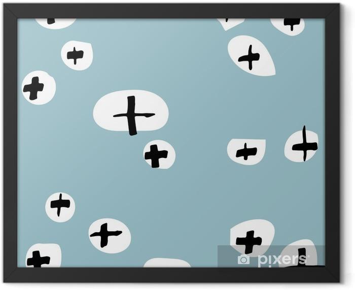 Plakat w ramie Bezszwowe wzory rysowane ręcznie. Wzór do wykorzystania na papier do pakowania, kartki z życzeniami i produktów upominkowych - Religia i kultura