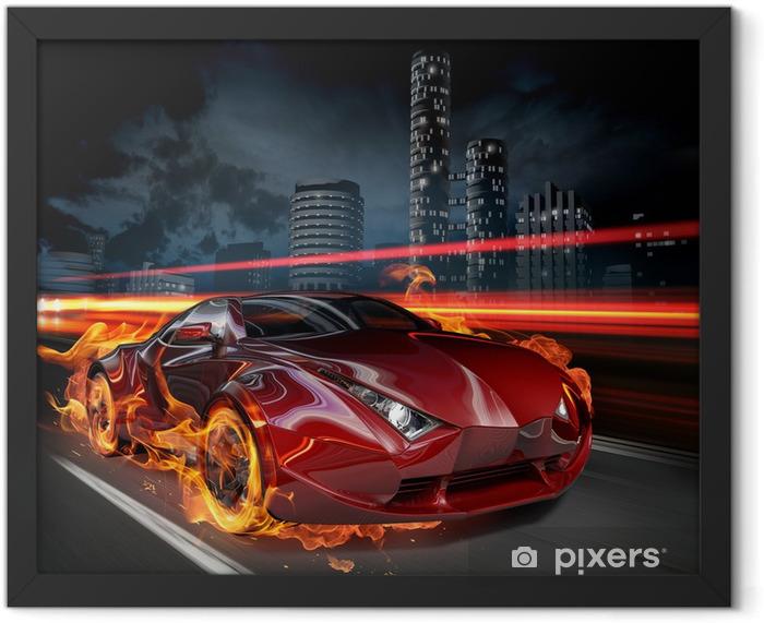 Plakat w ramie Hot Car -