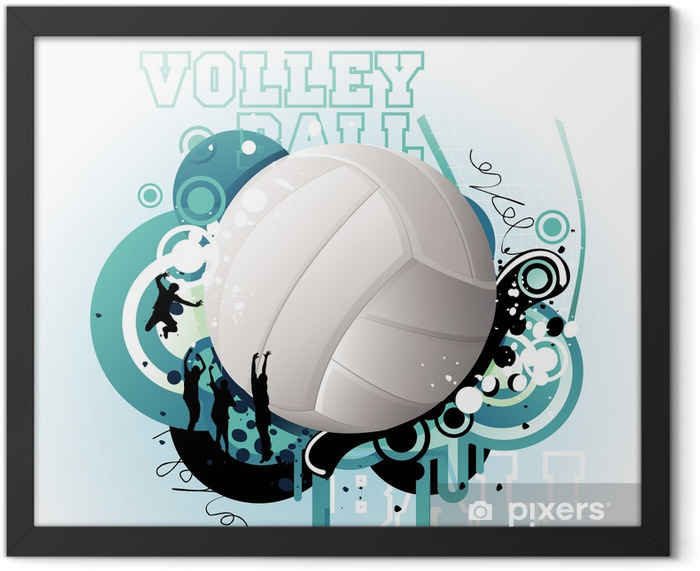 Volleyball vector Framed Poster - Volleyball