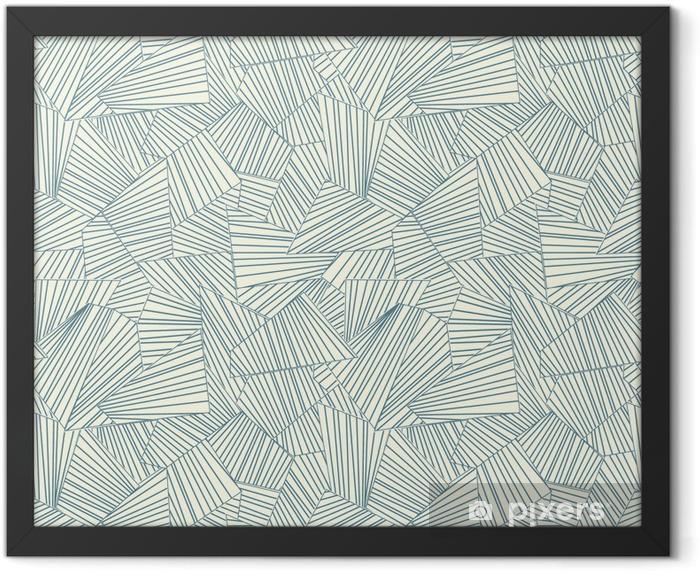 lattice pattern Framed Poster - Styles