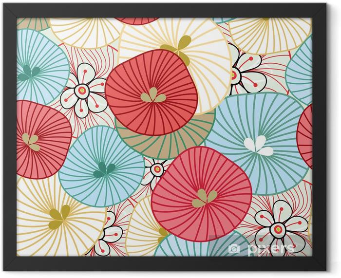 Flower background Framed Poster - Themes
