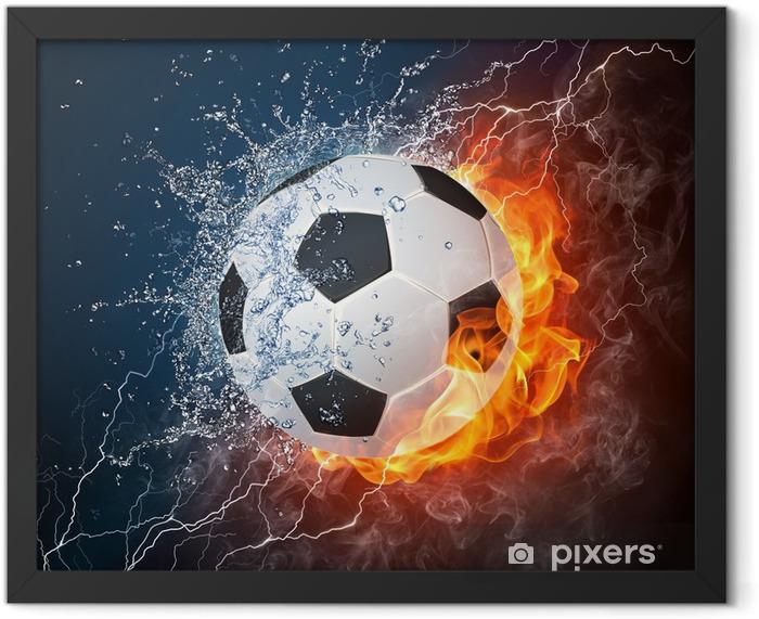 Soccer Ball Framed Poster -