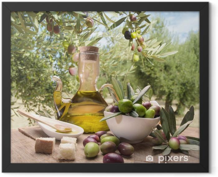 Poster en cadre Huile et d'olives - Olives