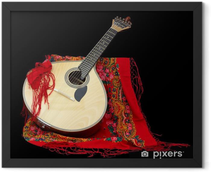 Portuguese Guitar for Fado Framed Poster - Themes
