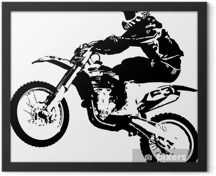 Motocross jumper Framed Poster - Wall decals