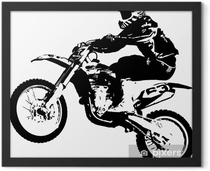 Plakat w ramie Motocross zworka - Naklejki na ścianę