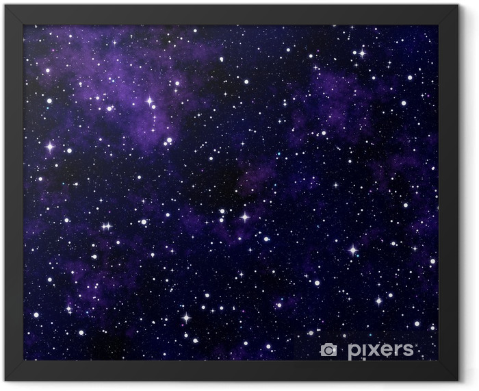 Seamless texture simulating the night sky Framed Poster - Universe