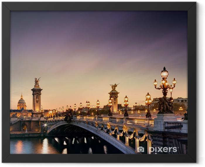 Poster en cadre Pont Alexandre III à Paris -