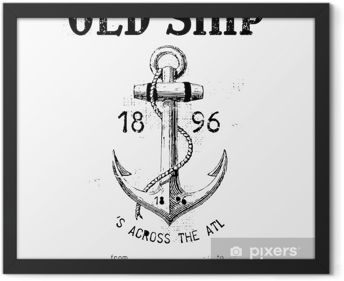 Old ship Framed Poster - Wall decals