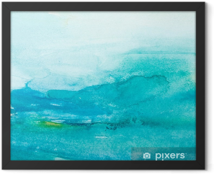 color strokes watercolor painting art Framed Poster - Styles