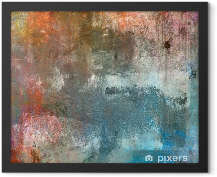 Grunge colorful background Framed Poster - Themes