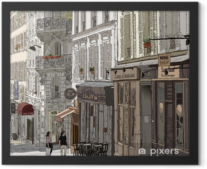 Poster en cadre Rue à Montmartre - Thèmes