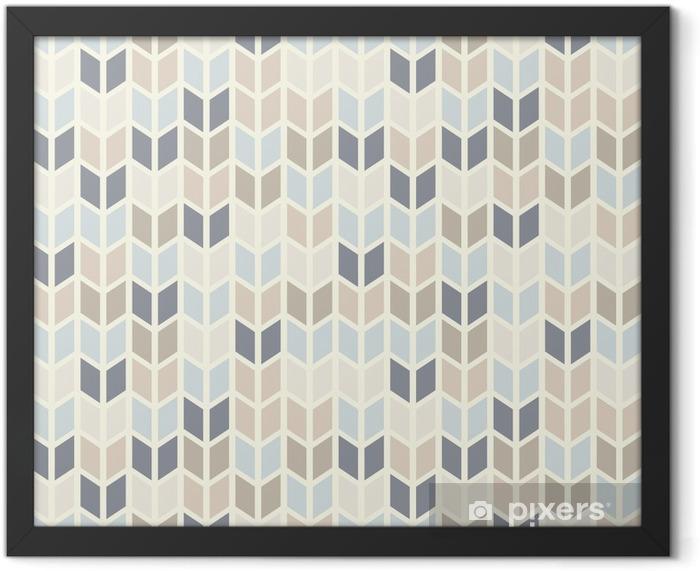 Plakat w ramie Powtarzalne geometryczny wzór w pastelowych odcieniach - Tematy