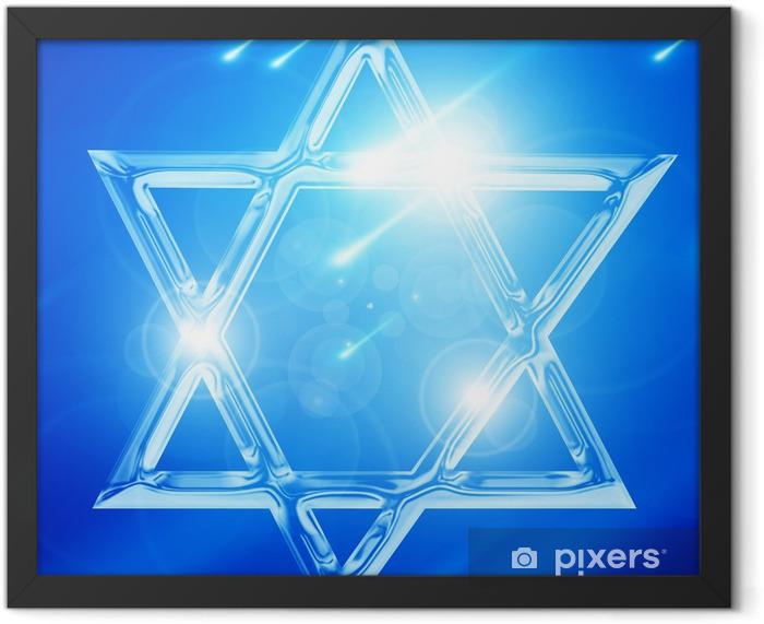 Poster en cadre Étoile de david - Signes et symboles