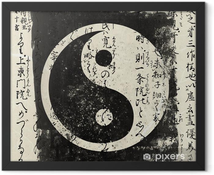 Plakat w ramie Yin i yang - Style