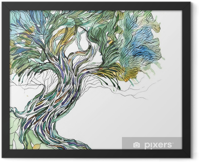 old tree Framed Poster - Science & Nature