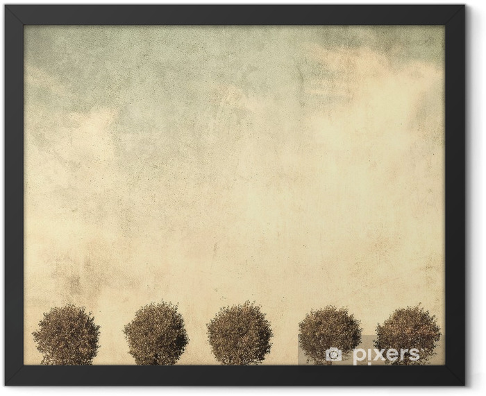 grunge image of trees Framed Poster - Styles