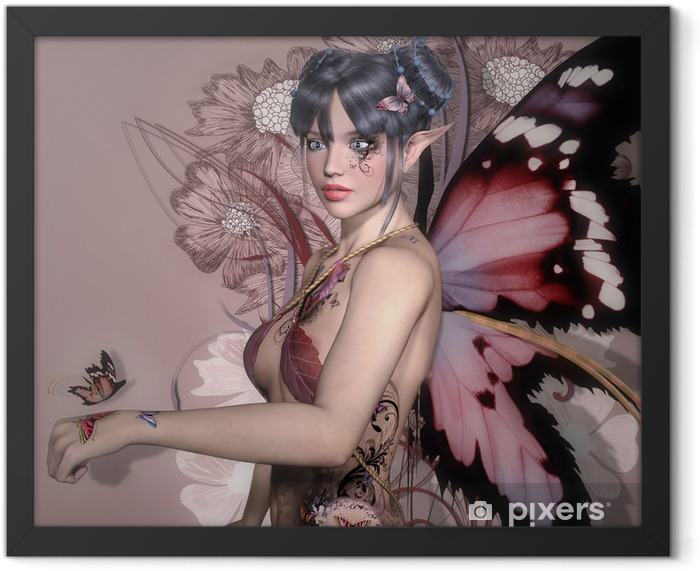 Plakat w ramie Pink fairy -