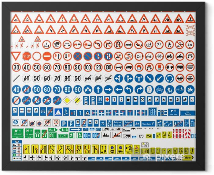 Plakat w ramie Znaki drogowe - Transport drogowy