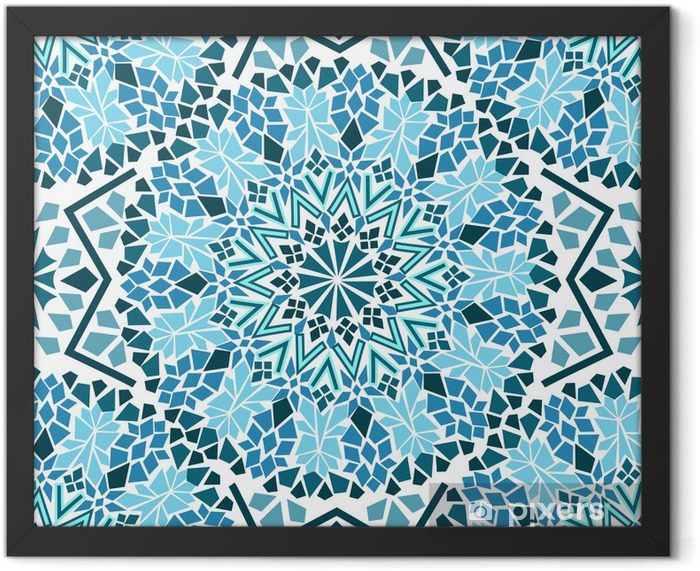 Plakat w ramie Powtarzalne z mozaiki Maroka - Mozaika
