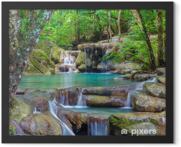 Erawan Waterfall Framed Poster - Waterfalls