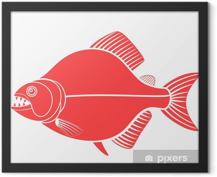 Poster en cadre Piranha - Sticker mural