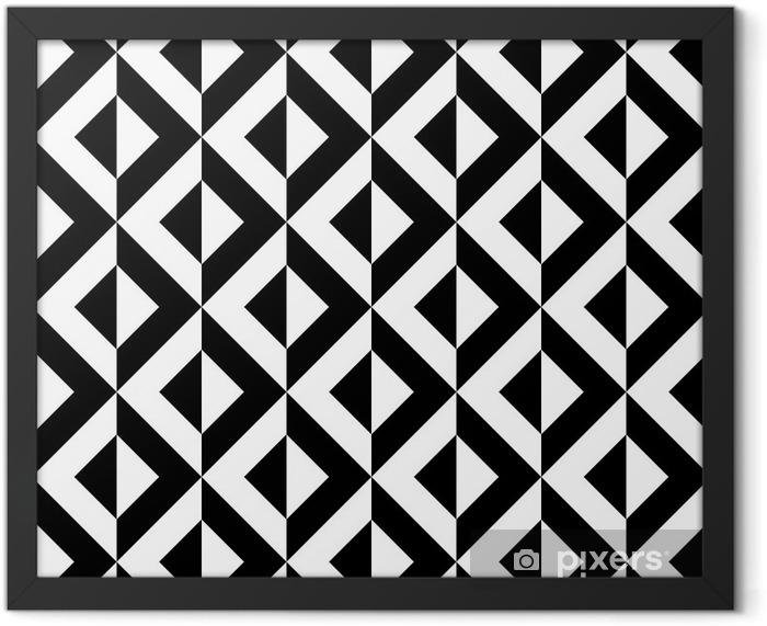 Plakat w ramie Abstrakcyjny wzór geometryczny - Tematy