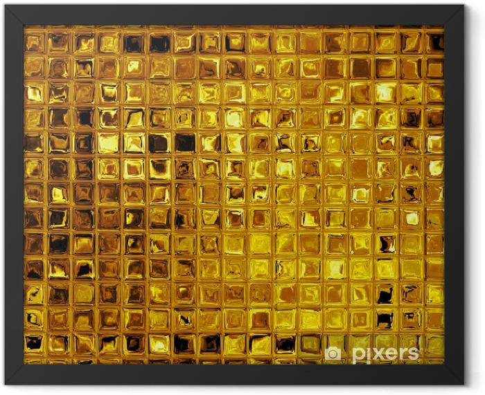 Luxury golden mosaic Framed Poster - Textures